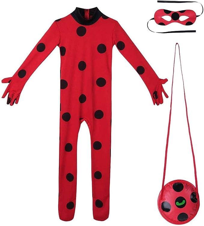 FZCRRDU KOCCAE Disfraz de Mariquita Milagrosa Para Niña Halloween ...