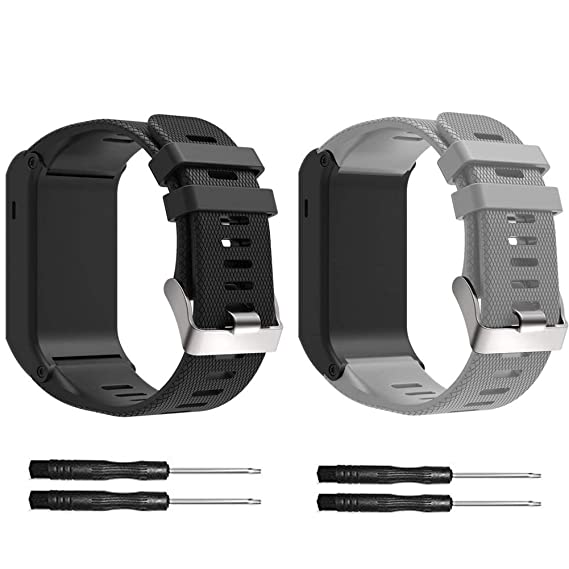 XIHAMA Replacement Band for Garmin Vivoactive HR, Silicone Replacement Fitness Bands Wristbands with Metal Clasps for Garmin vivoactive GPS Smart ...