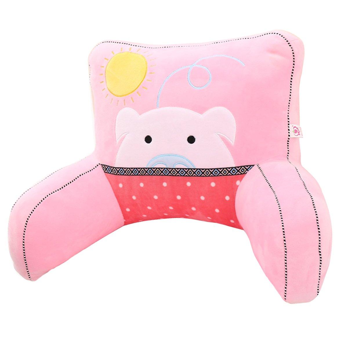 Adorable Pink Piggy Lumbar Support Backrest Pillow Waist Seat Back Cushion Pillow in Home Office School Car