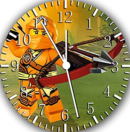Amazon.com: Ninja Ninjago Frameless Borderless Wall Clock ...