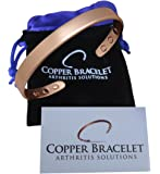 Copper Bracelet for Arthritis - GUARANTEED 99.9% PURE Copper Magnetic Bracelet For Men & Women With 6 Powerful Magnets For Effective Relief Of Joint Pain, Arthritis, RSI, Carpal Tunnel!