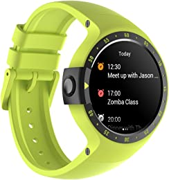 Ticwatch S Smartwatch-Aurora,1.4 inch OLED Display, Android Wear 2.0,Compatible with iOS and Android, Google Assistant