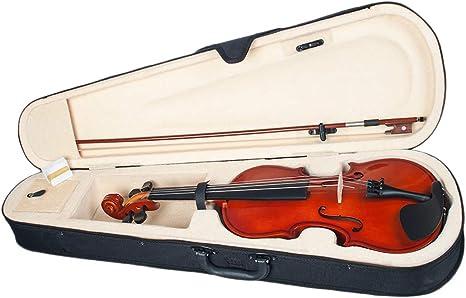 Almencla 1/8 Violín de Madera Natural Música con Estuche para Principiantes: Amazon.es: Instrumentos musicales