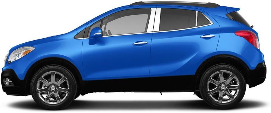 ENCORE 2013-2018 BUICK 6 Pc: Stainless Steel Pillar Post Trim Kit , 4-door PP5