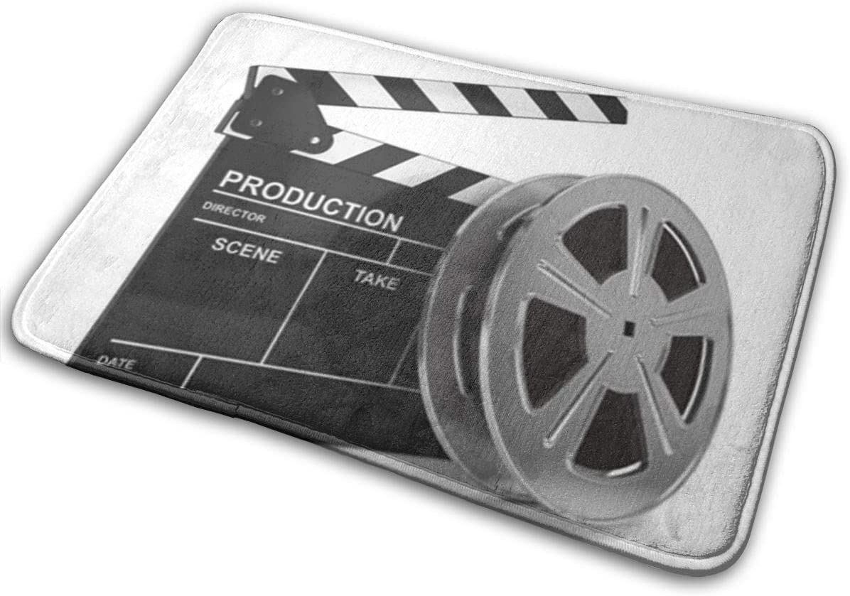 Odelia Palmer Felpudo Puerta Delantera Alfombrilla Producción Cine Película y Tablero Clap Carrete de Video 3D