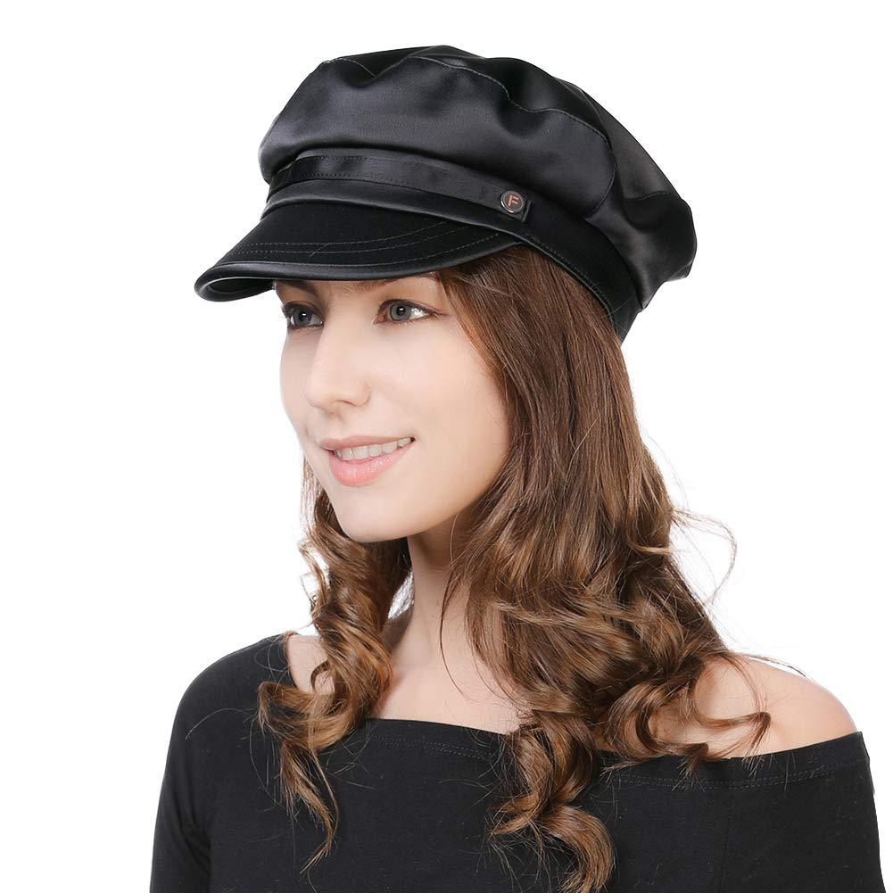 Ladies Trendy Hats Fisherman Fiddler Cap for Women Baker Boy Cap Sun Hat Adjustable 55-60CM