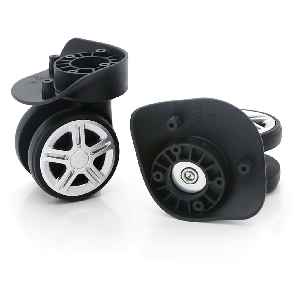 Super Ma 360 Swivel Luggage Mute Wheel Suitcase Replacement Repair Wheels 053(Couple Wheel) W053