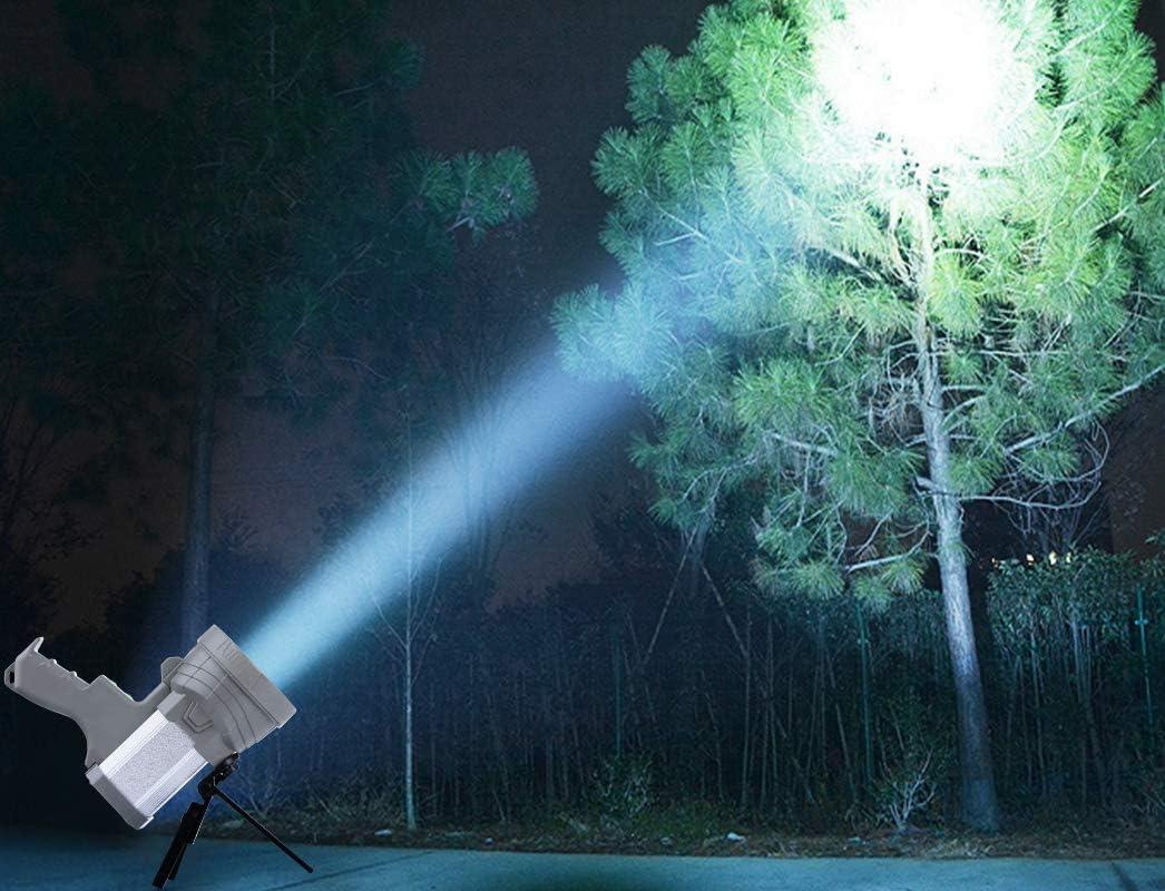 AF-WAN Lampe de Poche Lampe Torche Rechargeable 6000 lumens Puissante Portable Lampe Super lumineuse 9000 mAh Projecteur LED Rechargeable Pour Randonn/ée Camping