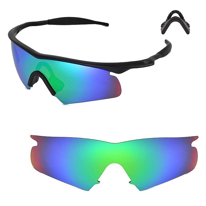 380a8dff53 walleva Replacement lentes con nosepads para Oakley M Frame Hybrid gafas de  sol - 15 opciones Emerald Mirror Coated - Polarized+ Nosepad: Amazon.es:  Ropa y ...