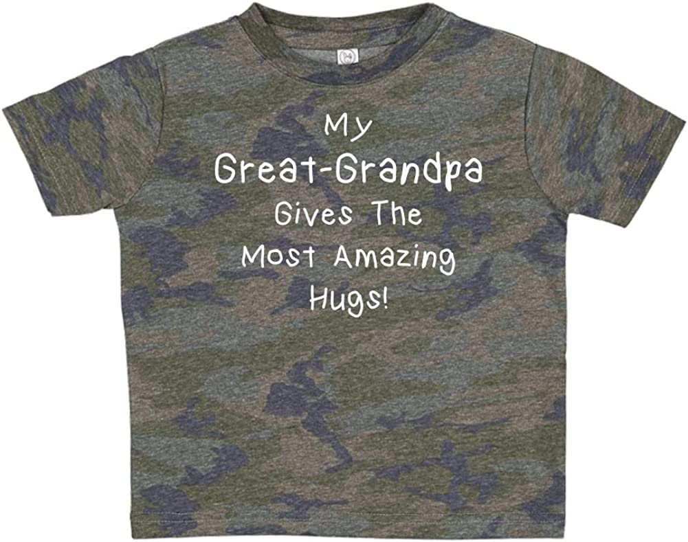 Toddler//Kids Short Sleeve T-Shirt My Great-Grandpa Gives The Most Amazing Hugs