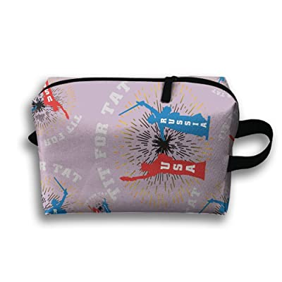 Usa Russia Portable Multifunction Cosmetic Bags Outdoor Case Toiletry Waterproof Organizers