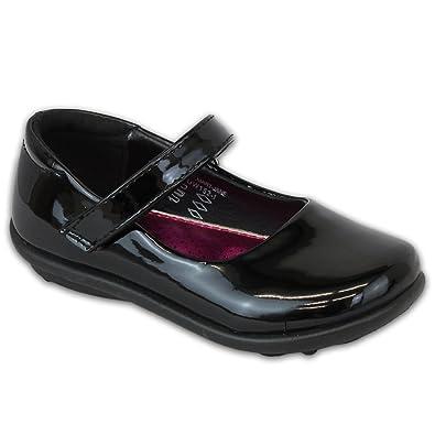 École Fille Chaussures Ballerine Habillé Brass Enfants Us Velcro N0nwOy8Pvm