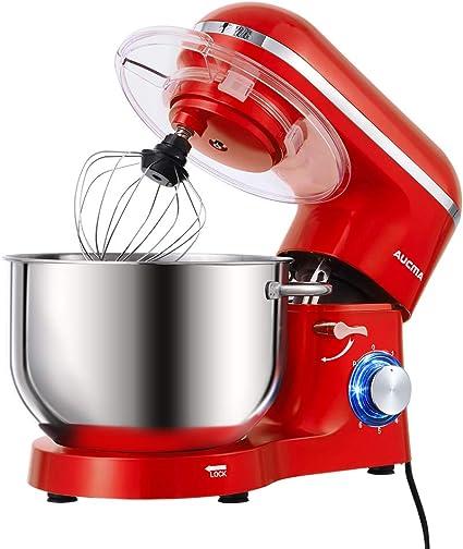 Aucma - Robot de cocina (1400 W, con bol de acero inoxidable de 6 ...