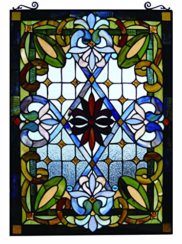 Inner Glass Panel (Fine Art Lighting JP92 Tiffany Window Panel, 480 Glass Cuts, 20 by 29