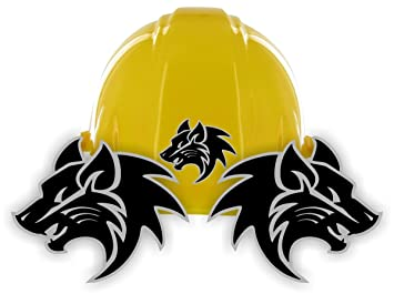 Tribal WOLVES Hard Hat Stickers Motorcycle Welding Helmet Decals - Motorcycle helmet decals