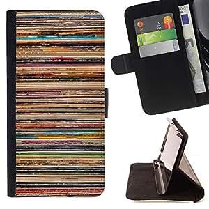 Momo Phone Case / Flip Funda de Cuero Case Cover - Skate Líneas Patrón pintura rústico - Samsung Galaxy Note 5 5th N9200