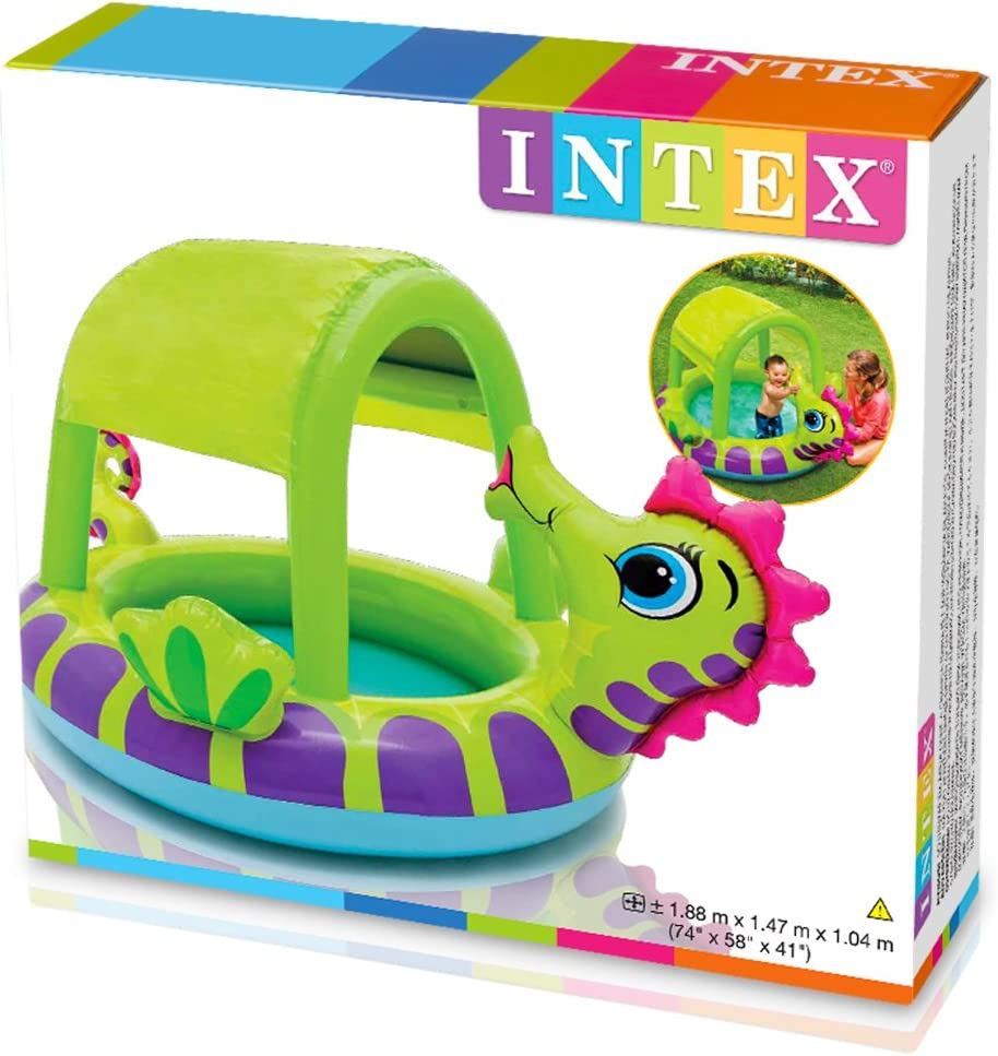 Intex 57110 Piscina hinchable caballito de mar, 114 litros ...