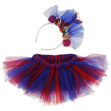 Multicolores Falda de Tutu con Lentejuelas Tiara de Deseño de ...