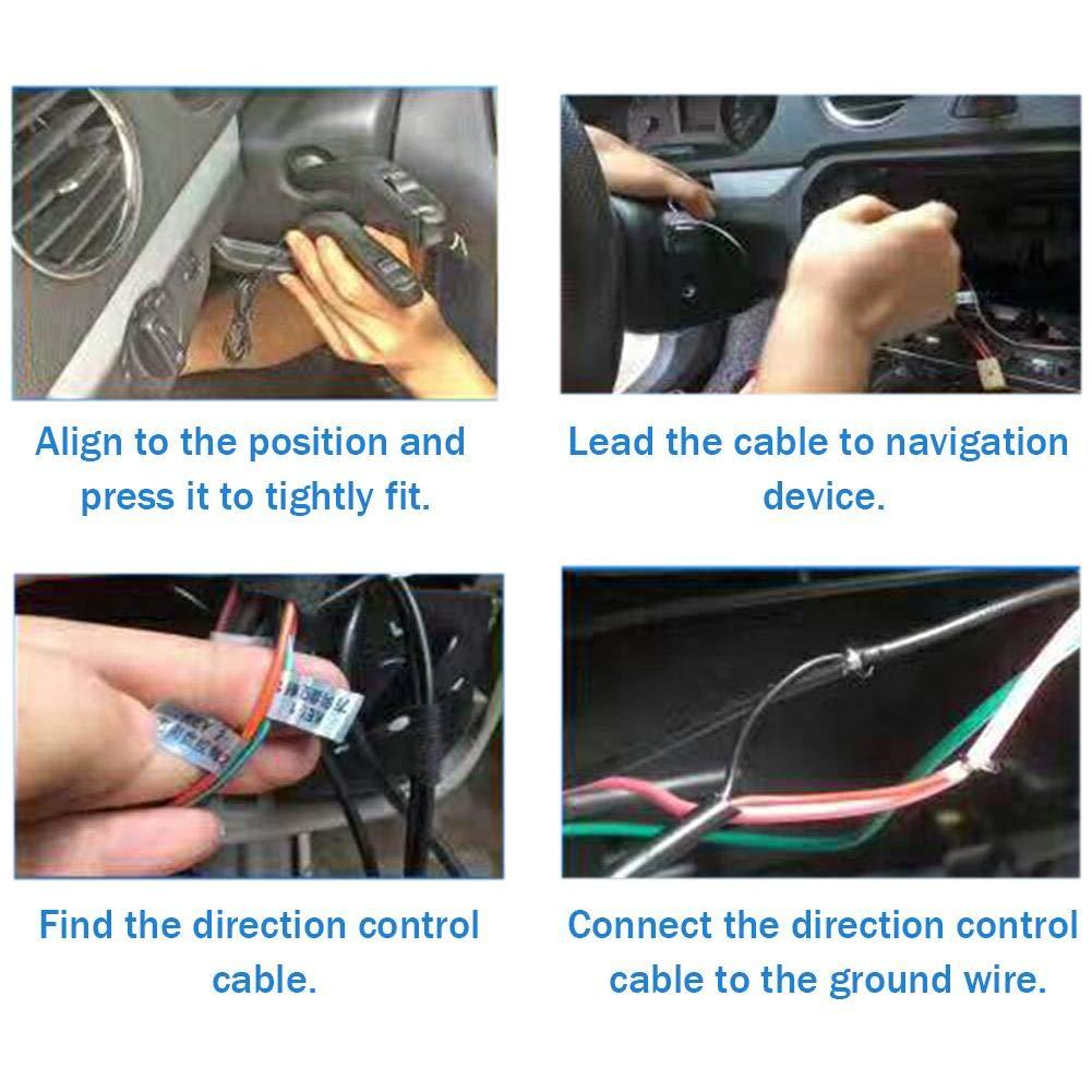 Compatible con Dispositivos de navegaci/ón pl/ástico ABS AITOCO instalaci/ón Segura con Cable Mando Universal para Volante de Coche Multifuncional