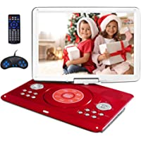 """16.9"""" Portable DVD Player with 14.1"""" Large Swivel Screen, Kids DVD Player Portable for Travel with 5 Hrs Rechargeable…"""