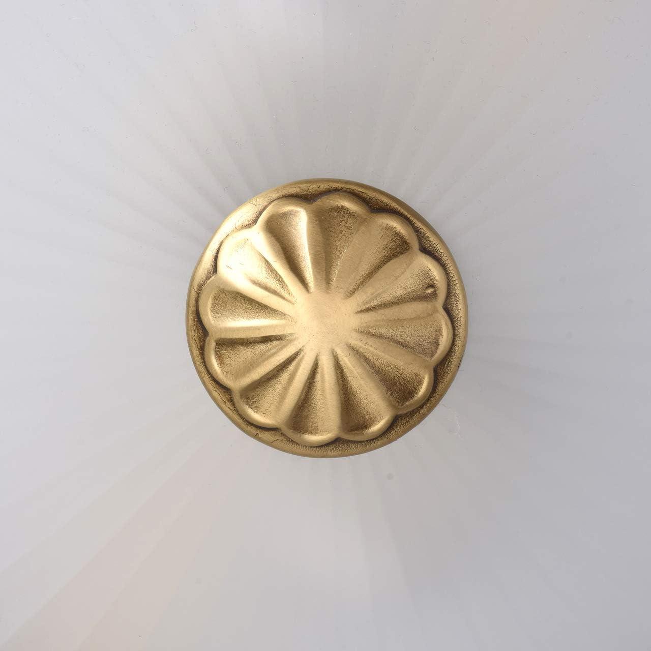 l/ámpara LED l/ámpara de techo para Sal/ón /& Comedor plaf/ón LED de LAMPENWELT Retro, Vintage 2 llamas, GU10, A+ LED L/ámpara de techo Leonor en Bronce hecho de Metal e.o