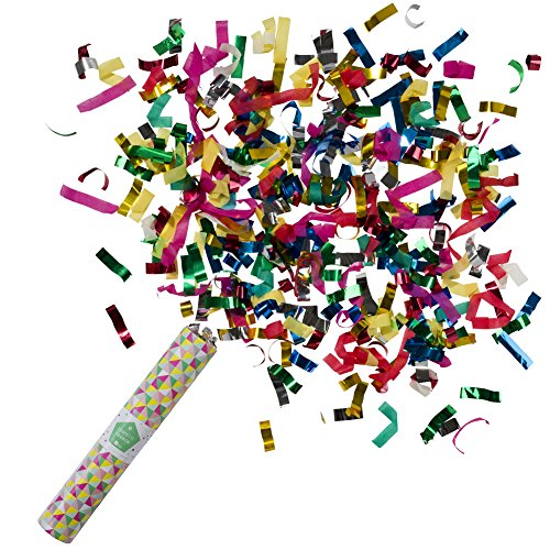 Talking Tables Party Confetti Canon | Great For Gender Reveal Party, Birthday Party And New Year Party | Multicolor