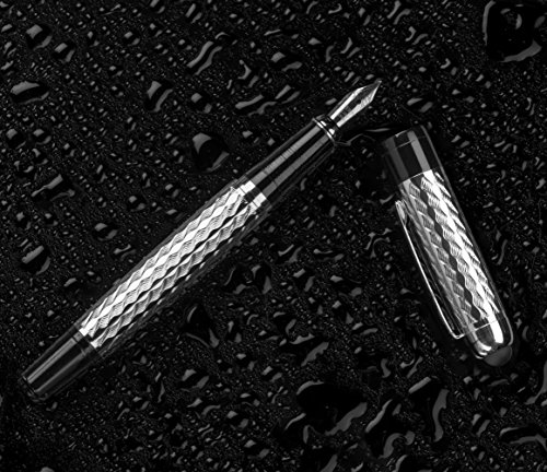 King-Nib-Fountain-Pen-Writing-Set-1-Pen-with-Cap-2-Nibs-Standard-and-Calligraphic-2-30ml-Ink-Bottles-2-Converters-Unique-Stylus-and-Gift-Case