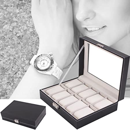 Yosoo - Caja para 6 relojes, color negro (10): Amazon.es: Hogar