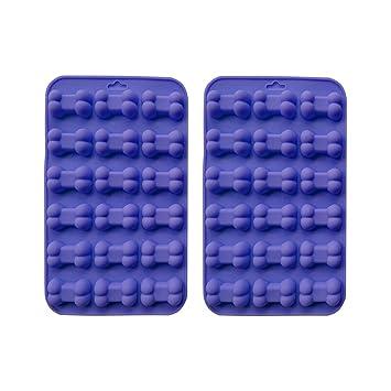 Amazon com: BESTONZON 2pcs Silicone Baking Mold Dog Bone Chocolate