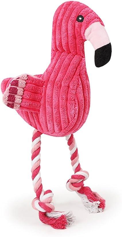 Mascota Perro juguetes chirriantes masticar Flamingo