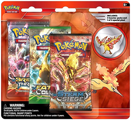 Pokemon TCG: Legendary Birds Blister Pack Containing 3 Booster Packs and Featuring A Moltres Collector's Pin