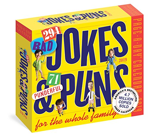 290 Bad Jokes & 75 Punderful Puns 2019 Calendar