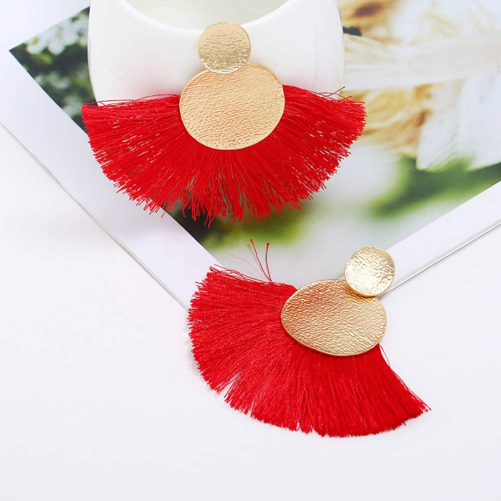 MissDaisy 3-9 Pairs Alloy Tassel Earrings Long Thread Tassel Dangle Earring Bohemian Handmade Earrings for Womens Girls