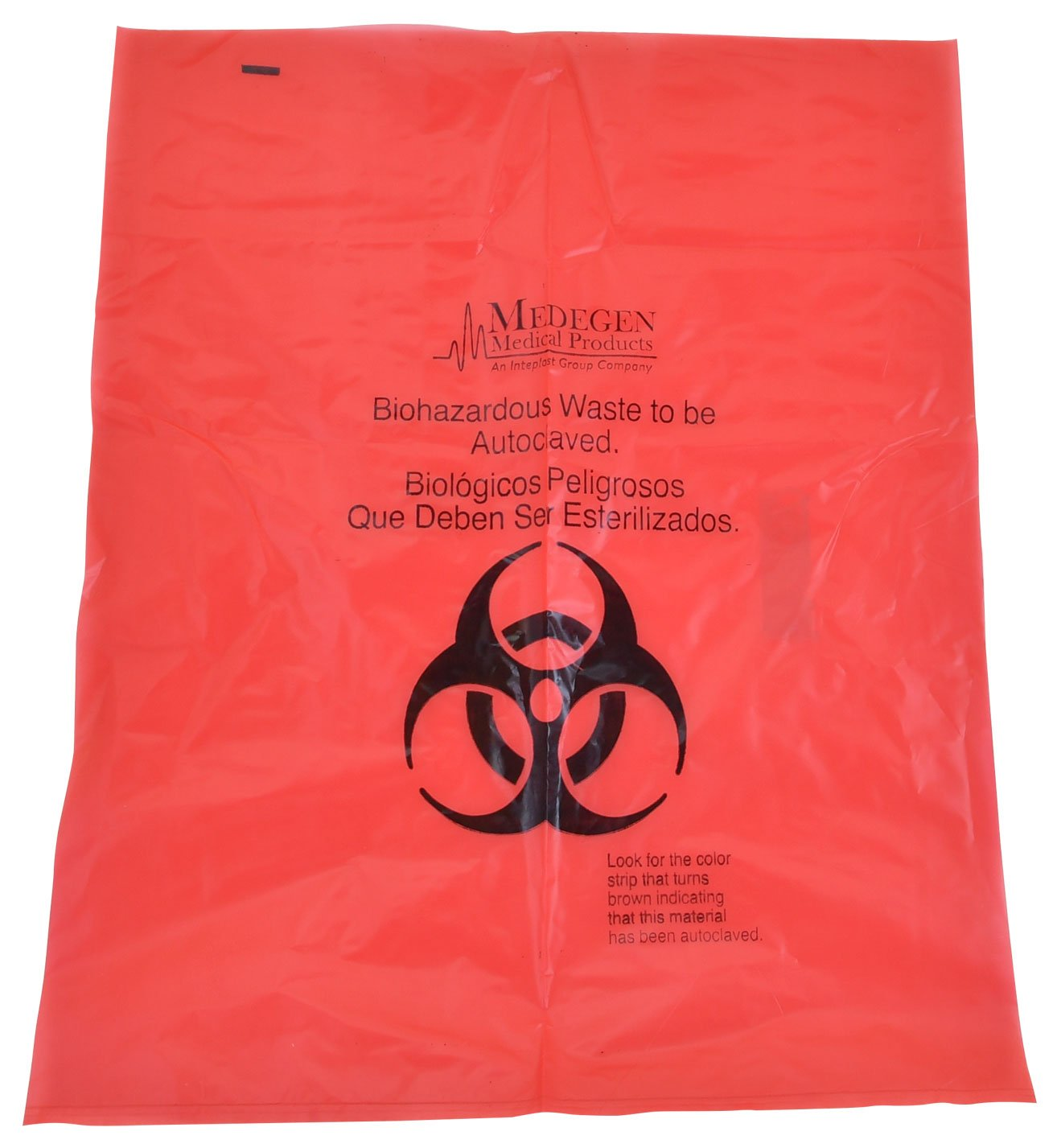 Autoclave Bag, 25x35 inches, Red, with Heat Indicator, Polypropylene 2mil Thick, 200 per Case, by Medical Action Industries