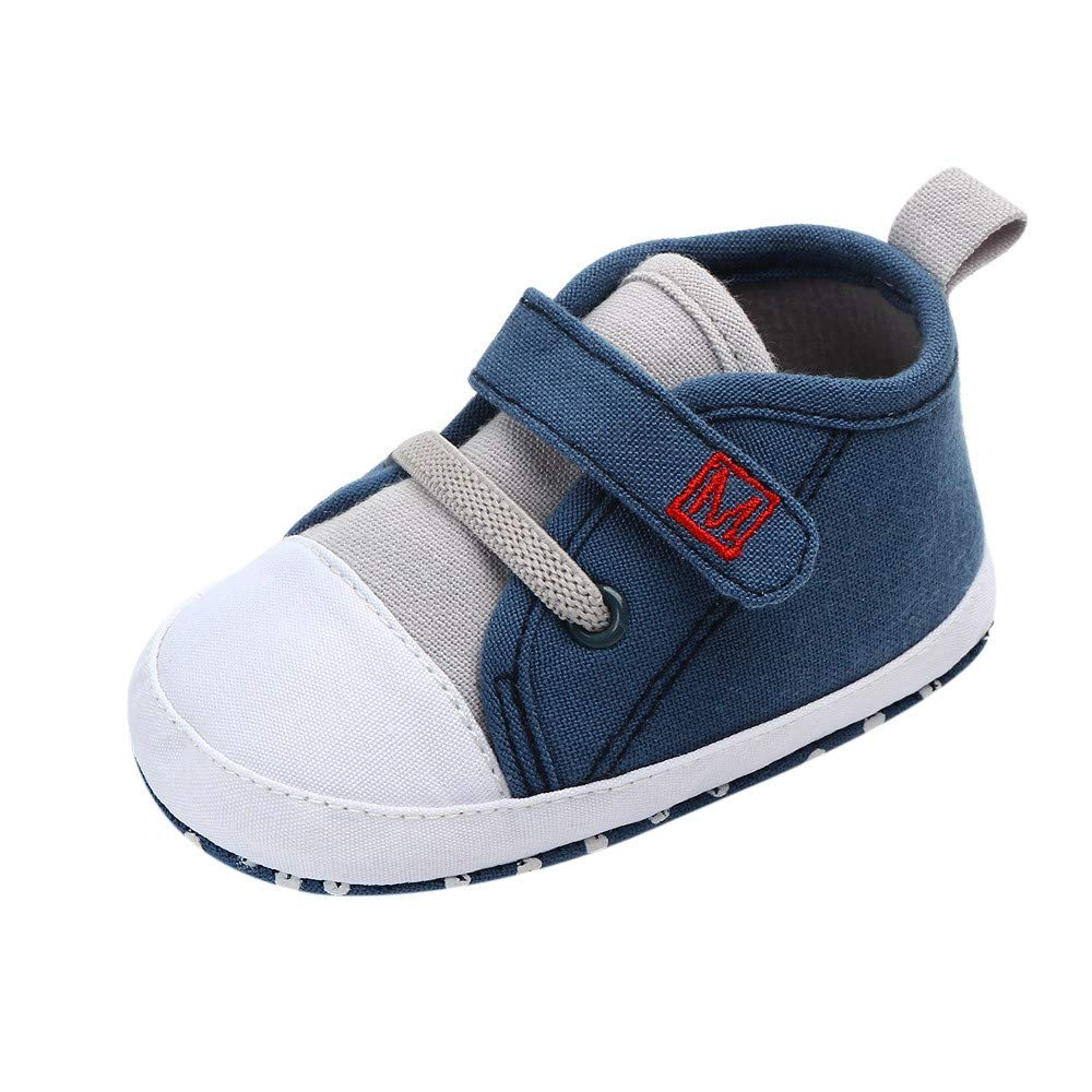 OCEAN-STORE Toddler Boys Puppy Cotton Warm Winter Non-Slip House Slipper Kids Athletic Running Shoes Knit Breathable Lightweight Walking Tennis Sneakers for girlsBlue12