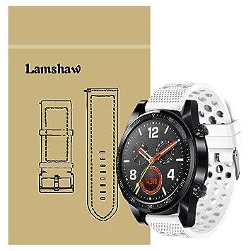 Ceston Clásico Deporte Silicona Correas para Smartwatch Huawei Watch GT (Blanco)