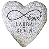GiftsForYouNow Infinity Love Couple Small Heart Personalized Garden Stone, 5.5″ Review