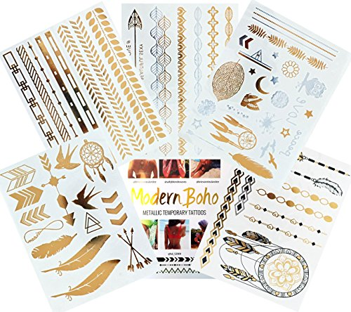 Modern Boho Metallic Tattoos Collection product image