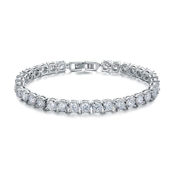 Ashmita Tennis Crystal Bracelet For Women Charm Men Rose Gold Zirconia Bracelets Gift Jewelry by Ashmita