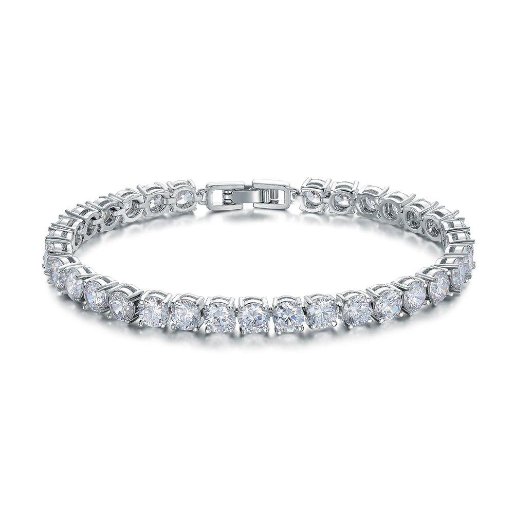 ASHMITA Fashion Tennis Bracelet for Women,Cubic Zirconia Platinum Plated Bracelet of Luxury Shining Gift Jewelry