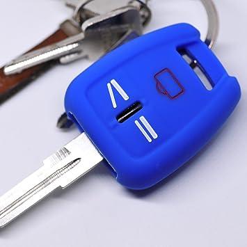 Key Soft Case Cover Funda Protectora Llave del Coche Opel Signum Vectra C Llave del Coche Vauxhall/Color: Azul Oscuro