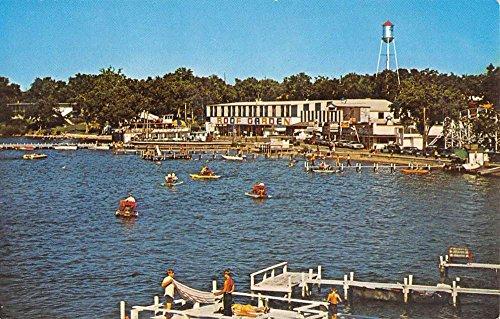 Arnolds Park Iowa Amusement Parks Waterfront Vintage Postcard K57547
