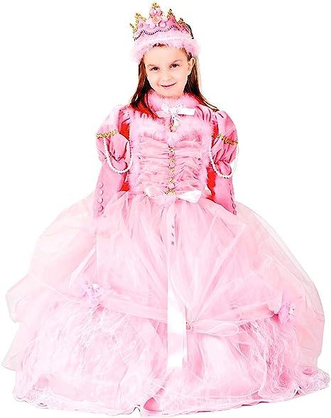 Costume di Carnevale da Principessa al Ballo Lusso Vestito per Ragazza  Bambina 7-10 Anni bab899bca3b