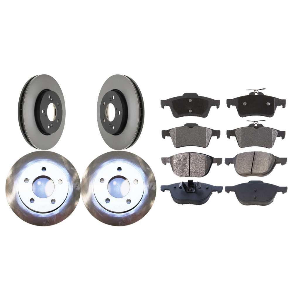 Prime Choice Auto Parts BRAKEPKG1199 Full Set of Front /& Rear Brake Rotors /& Ceramic Pads