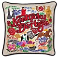 Catstudio Kentucky Derby Hand-embroidered Pillow
