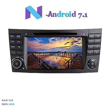 Android 7.1 Autoradio, Hi-azul 2 DIN Radio de Coche In-Dash Navegación