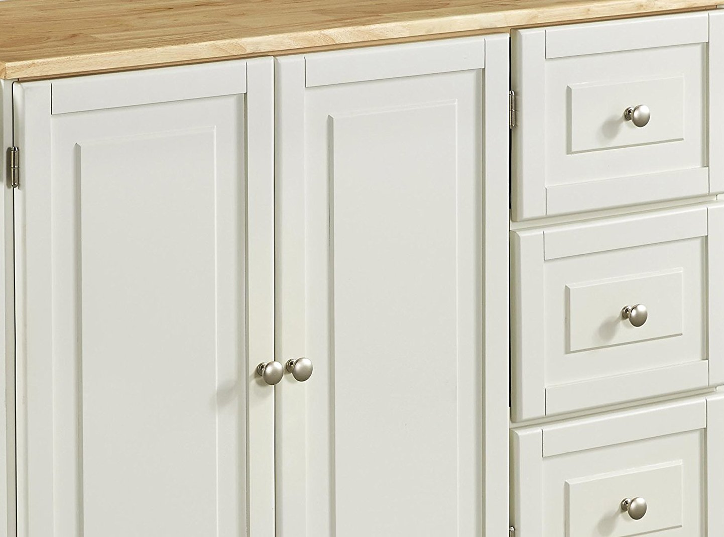 Home Styles 4511-95 Liberty Kitchen Cart with Wood Top, White by Home Styles (Image #11)