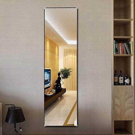 Espejo de Piso de Montaje en Pared Completo Inicio Espejo de tocador de Madera Maciza Tienda de Ropa Espejo apropiado, 40 * 150 cm Espejo de pie L0624 (Color : Black): Amazon.es: Hogar