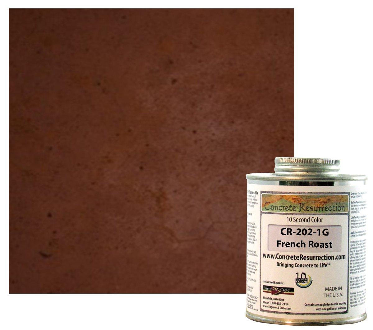 2番目色(TSC) コンクリートDye Concentrate Makes 1ガロンプロフェッショナルグレード、簡単に使用します。Brilliant太字色。半透明Cement Dye。Dries数秒で B073PJ3ZK1 フレンチロースト