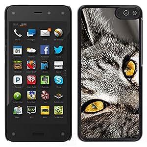 // PHONE CASE GIFT // Duro Estuche protector PC Cáscara Plástico Carcasa Funda Hard Protective Case for Amazon Fire Phone / Chartreux Serengeti Bengal Shorthair Cat /